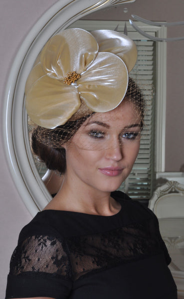 Emma Gold Colour Fascinator - LadyVB   s.r.o - 2