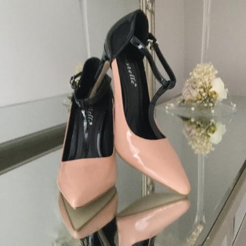 Renee Nude and Black Patent Strap Shoe - LadyVB   s.r.o - 3