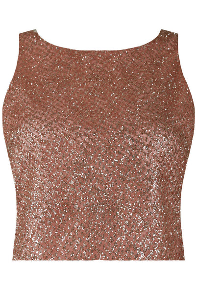 Brenda Rose Gold Glitter Crop Top - LadyVB   s.r.o - 3