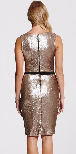 Gold Sequin Bow Dress - LadyVB   s.r.o - 2