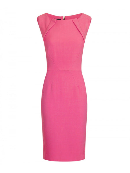 Kyla Pink Crepe Exposed Back Zip - LadyVB   s.r.o - 6