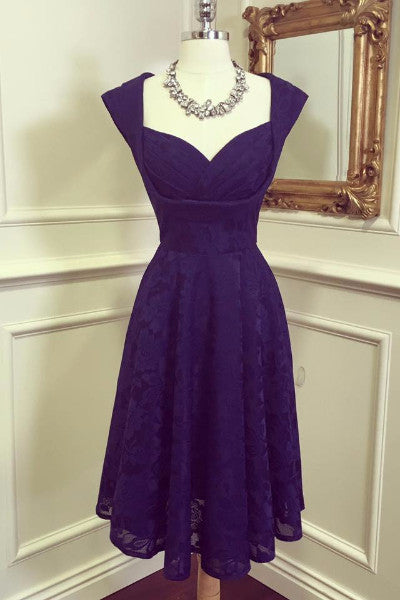 Marissa Navy Lace Midi Dress - LadyVB   s.r.o - 3