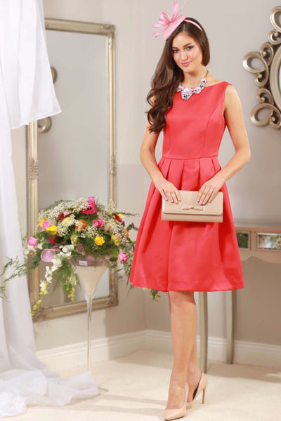 Rouge Red Fit and Flare Dress - LadyVB   s.r.o - 1