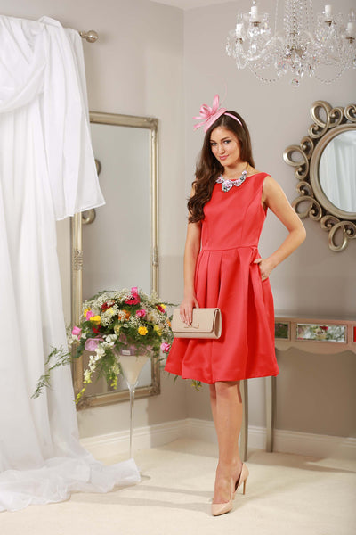 Rouge Red Fit and Flare Dress - LadyVB   s.r.o - 3