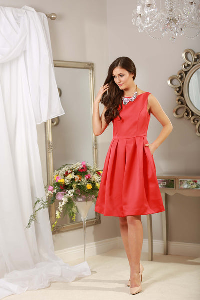 Rouge Red Fit and Flare Dress - LadyVB   s.r.o - 5