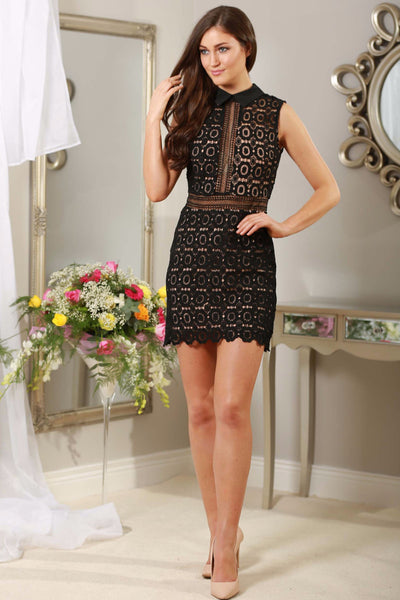 Black Applique Dress - LadyVB   s.r.o - 1