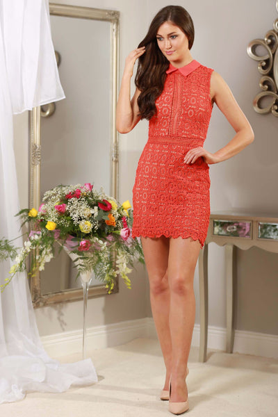 Rouge Red Applique Dress - LadyVB   s.r.o - 1