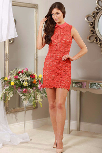 Rouge Red Applique Dress - LadyVB   s.r.o - 6