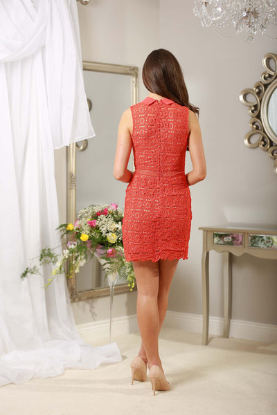 Rouge Red Applique Dress - LadyVB   s.r.o - 3