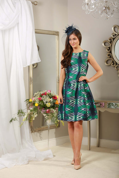 Green and Navy Dress - LadyVB   s.r.o - 4