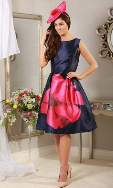 Madison Navy and Pink Dress - LadyVB   s.r.o - 2