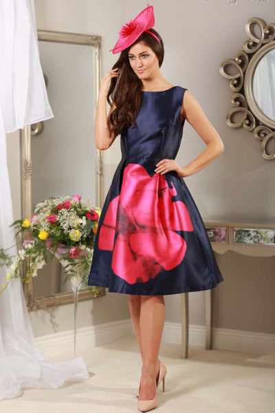 Madison Navy and Pink Dress - LadyVB   s.r.o - 1