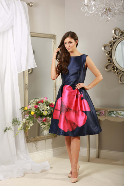 Madison Navy and Pink Dress - LadyVB   s.r.o - 3
