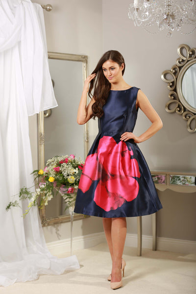 Madison Navy and Pink Dress - LadyVB   s.r.o - 4