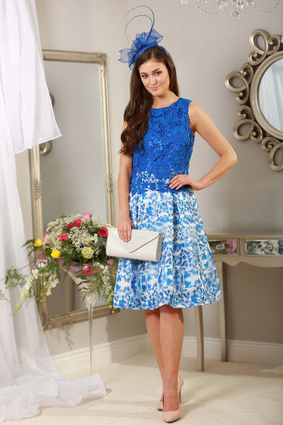 Caris Blue and white Crochet Dress - LadyVB   s.r.o - 3