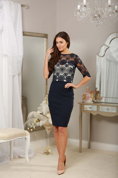 Navy Crochet Dress - LadyVB   s.r.o - 5