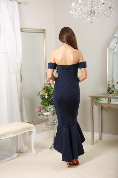 Navy Fishtail Dress - LadyVB   s.r.o - 2