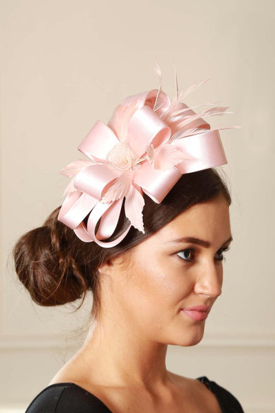 Pale Pink Satin Fascinator - LadyVB   s.r.o - 2