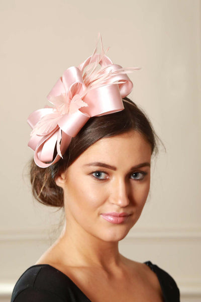 Pale Pink Satin Fascinator - LadyVB   s.r.o - 1