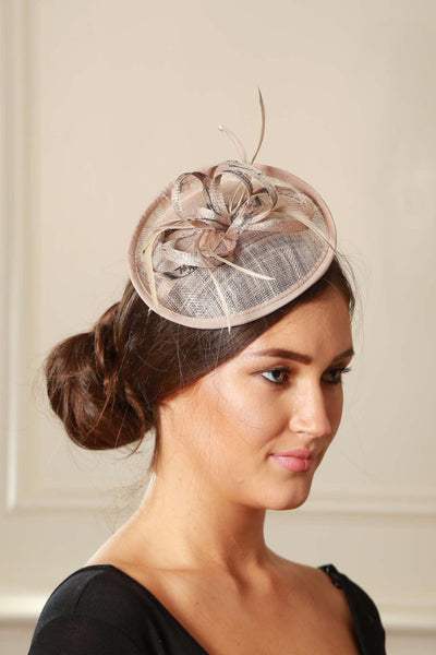 Beige/Nude and Black Fascinator - LadyVB   s.r.o - 4