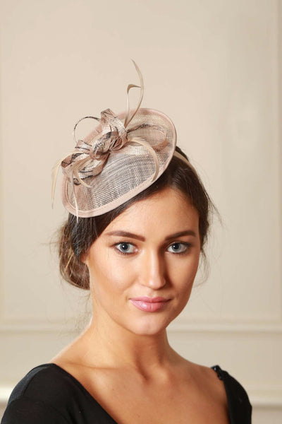 Beige/Nude and Black Fascinator - LadyVB   s.r.o - 3
