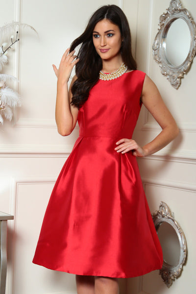 Red Fit and Flare Dress - LadyVB   s.r.o - 2