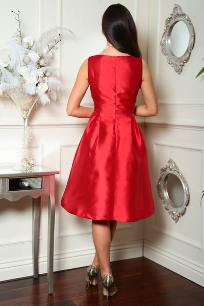 Red Fit and Flare Dress - LadyVB   s.r.o - 3