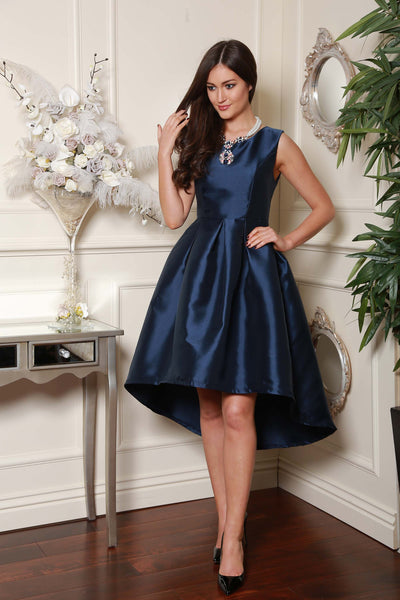 Navy Dip Back Dress - LadyVB   s.r.o - 1