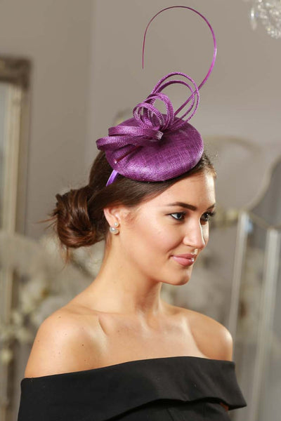 Holly Purple Fascinator - LadyVB   s.r.o - 4