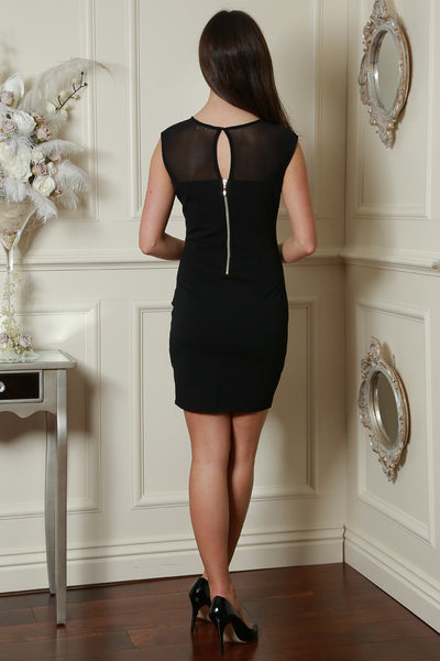 Black Embellished Neckline Dress - LadyVB   s.r.o - 3
