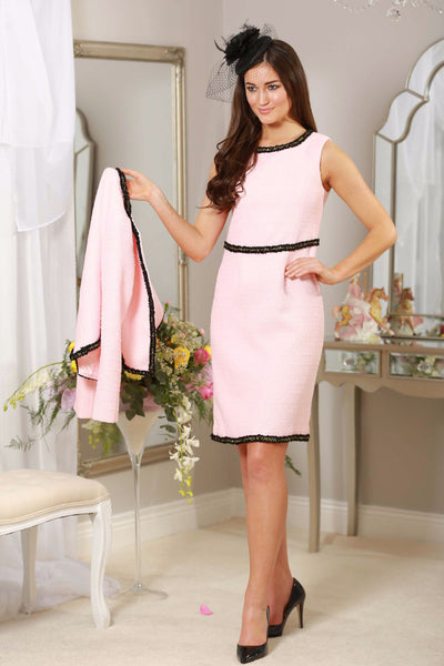 Pink Black Trim Dress - LadyVB   s.r.o - 1
