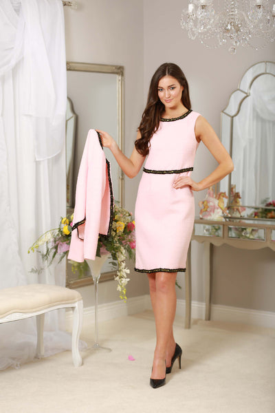 Pink Black Trim Dress - LadyVB   s.r.o - 3