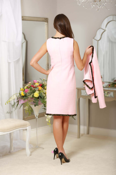 Pink Black Trim Dress - LadyVB   s.r.o - 4