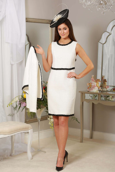 White Black Trim Dress - LadyVB   s.r.o - 1