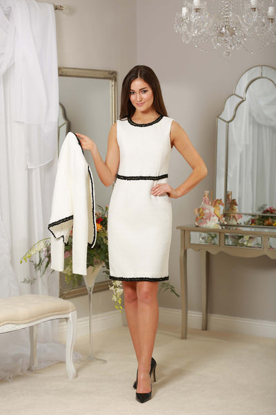 White Black Trim Dress - LadyVB   s.r.o - 3