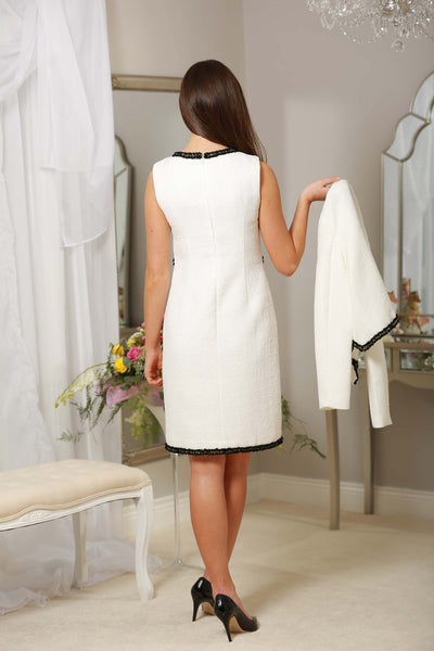 White Black Trim Dress - LadyVB   s.r.o - 4