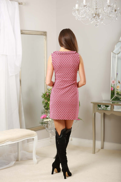 Pink Button Detail Retro Dress - LadyVB   s.r.o - 3
