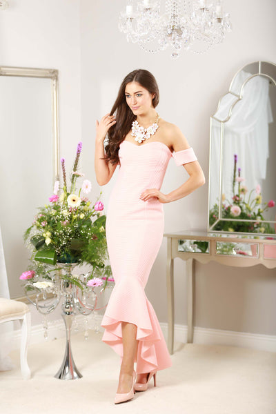 Peach Fishtail Dress - LadyVB   s.r.o - 9