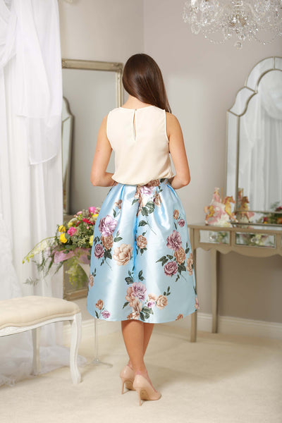 Blue Flower Skirt - LadyVB   s.r.o - 2