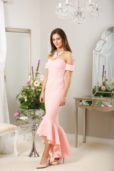 Peach Fishtail Dress - LadyVB   s.r.o - 2