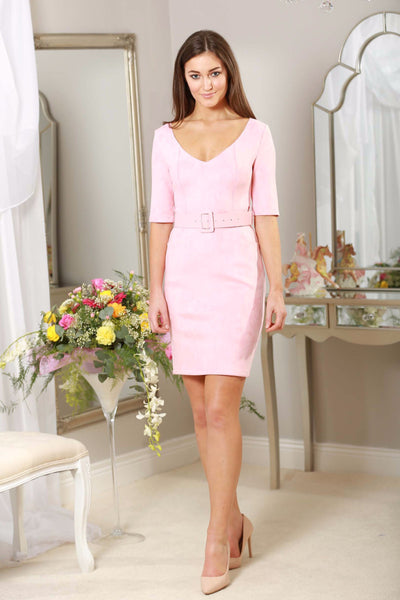 Baby Pink Suedette Dress - LadyVB   s.r.o - 1