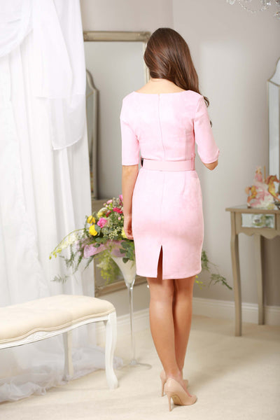 Baby Pink Suedette Dress - LadyVB   s.r.o - 3