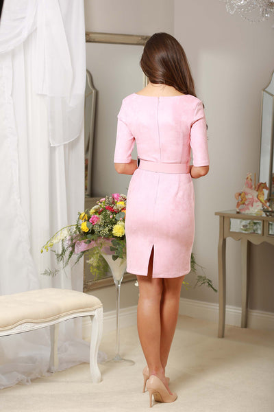 Baby Pink Suedette Dress - LadyVB   s.r.o - 2