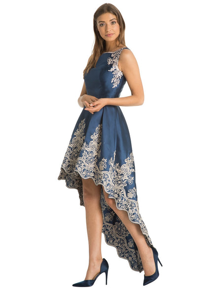 Fawne Floral Embroidered Dip Hem Dress - LadyVB   s.r.o - 5