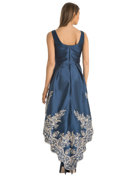 Fawne Floral Embroidered Dip Hem Dress - LadyVB   s.r.o - 6