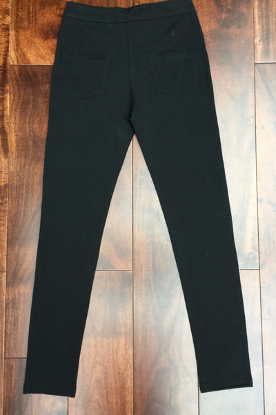 Black Pocket Leggings pants - LadyVB   s.r.o - 2