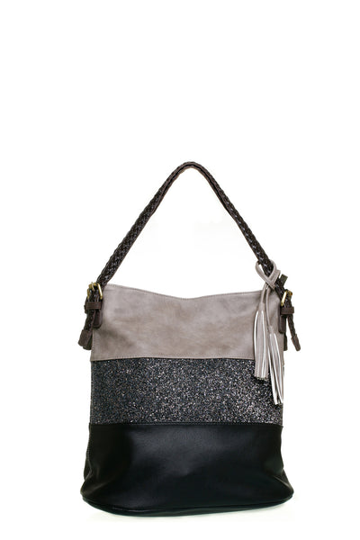 Harvey Narrow Black Shoulder Handbag - LadyVB   s.r.o - 1