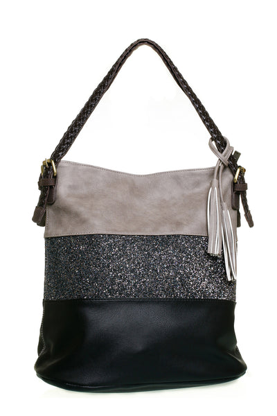 Harvey Narrow Black Shoulder Handbag - LadyVB   s.r.o - 3