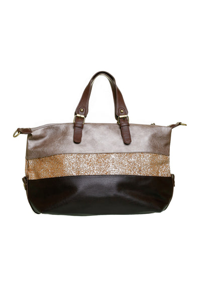 Norma Wide Brown Shoulder Handbag - LadyVB   s.r.o - 2
