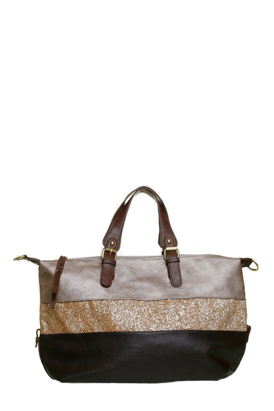 Norma Wide Brown Shoulder Handbag - LadyVB   s.r.o - 1